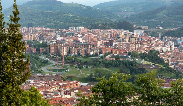 Monte Archanda: Blick vom Parque del Funicular Bilbao
