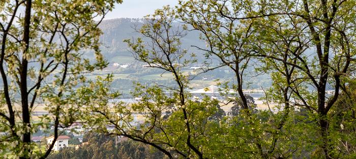 Monte Archanda: Blick vom Parque del Funicular - Aeropuerto de Bilbao Bilbao