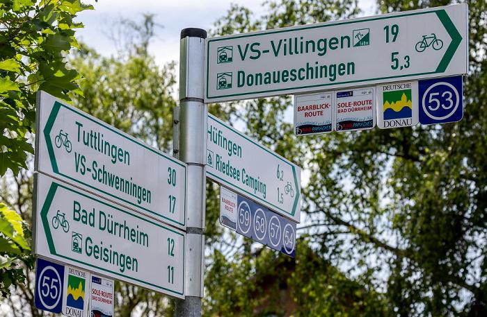 Pfohren Donaubrücke: Radwegweiser
