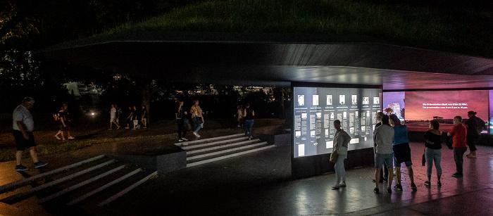 Olympiapark: Erinnerungsort Olympia-Attentat (Gedenkort Einschnitt) München