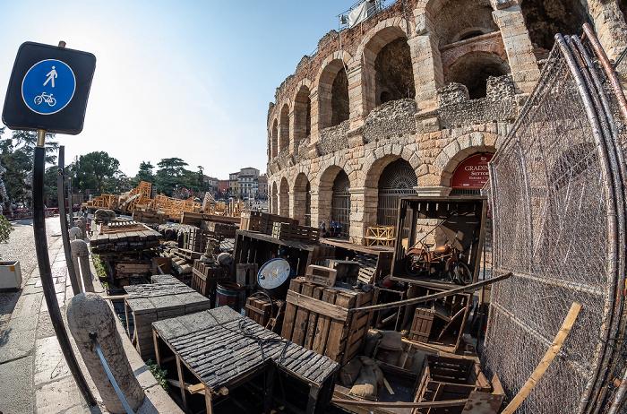 Centro Storico (Altstadt): Arena di Verona, Requisiten für Operaufführungen Verona