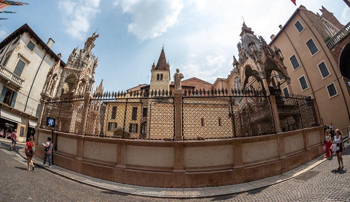Centro Storico (Altstadt): Via Santa Maria in Chiavica - Skaligergräber Verona