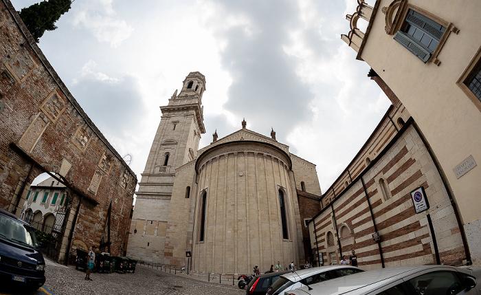Centro Storico (Altstadt): Piazza Vescovado, Cattedrale di Santa Maria Matricolare (Dom) Verona