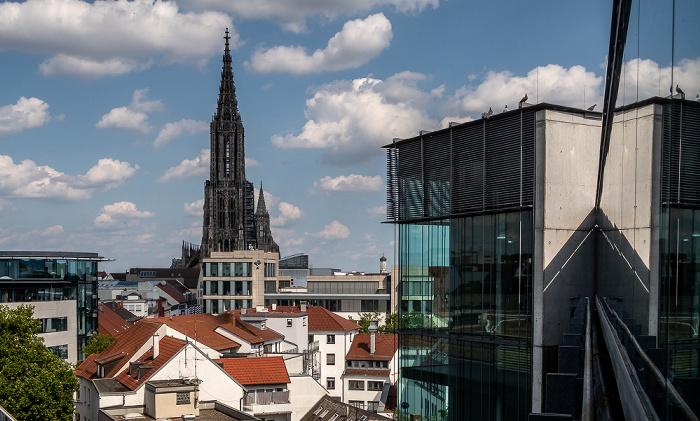 Blick vom Deutschhaus Parkhaus: Ulmer Münster