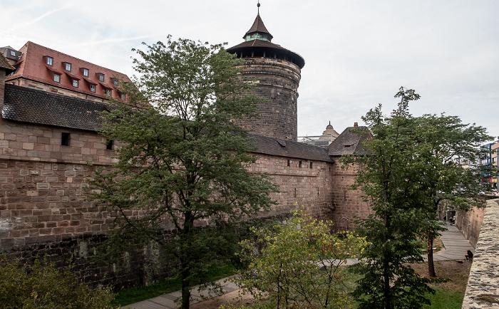 Frauentorgraben, Frauentormauer, Frauentorturm Nürnberg 2019