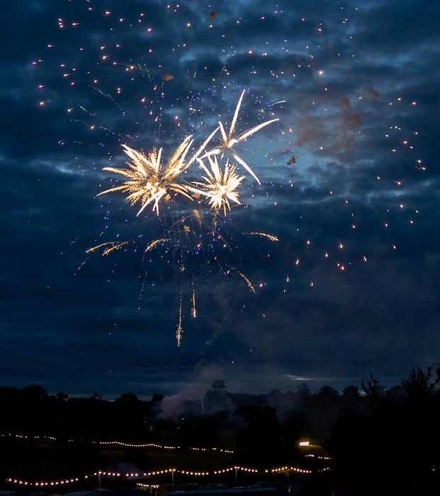 Deer Park Campsite (Lakefest): Feuerwerk Eastnor