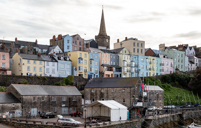 Tenby Harbour Beach, Crackwell Street, St Mary's Church