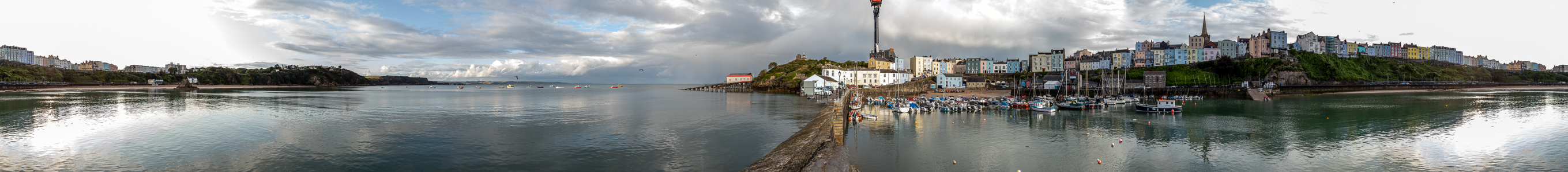 Carmarthen Bay, Castle Hill, Tenby Harbour