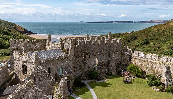 Manorbier Castle Manorbier Bay Manorbier Beach