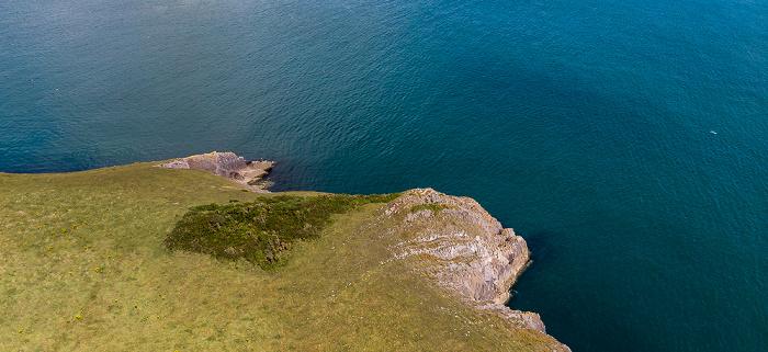 Pembrokeshire Coast National Park Bristolkanal (Bristol Channel) Luftbild aerial photo