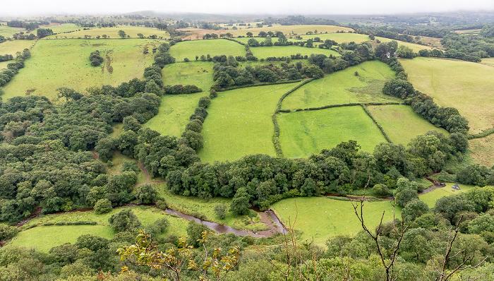 Brecon Beacons National Park Blick vom Carreg Cennen Castle: Tal des Afon Cennen