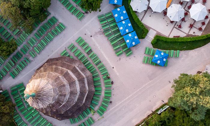 Englischer Garten: Biergarten Chinesischer Turm, Chinesischer Turm München