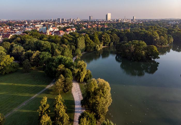 Englischer Garten mit Kleinhesseloher See, Schwabing München