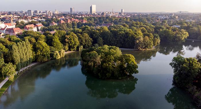 Englischer Garten: Kleinhesseloher See mit Kurfürsteninsel München