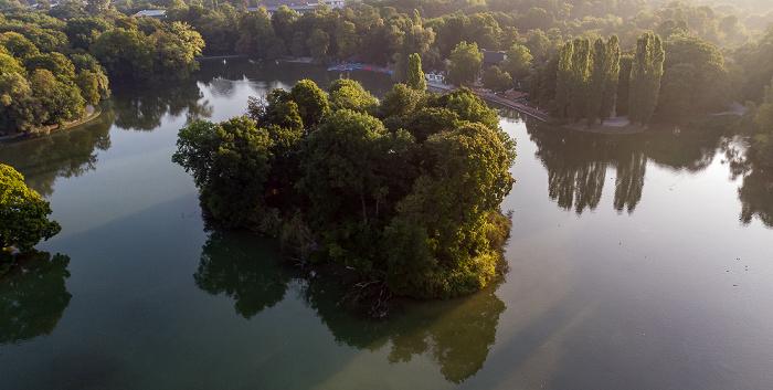Englischer Garten: Kleinhesseloher See mit Königsinsel München