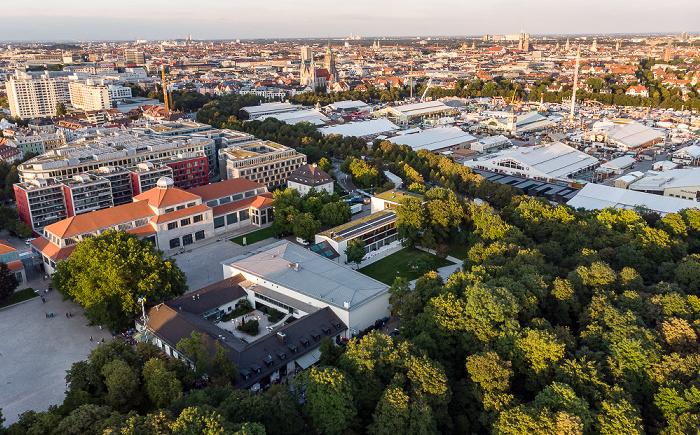 Theresienhöhe, Theresienwiese (1 Woche vor Stadt des Oktoberfests) München