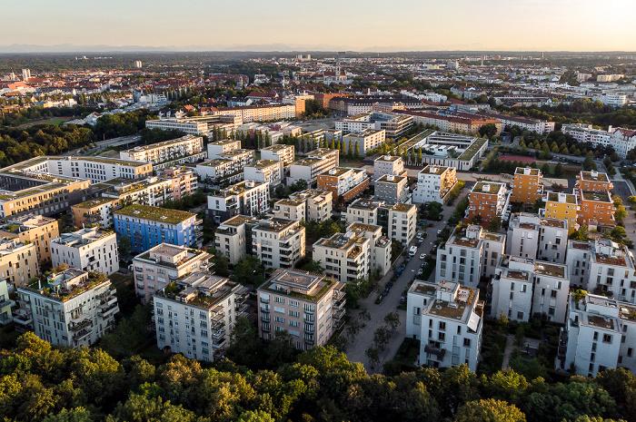 Theresienhöhe mit dem Quartier Theresienhöhe München