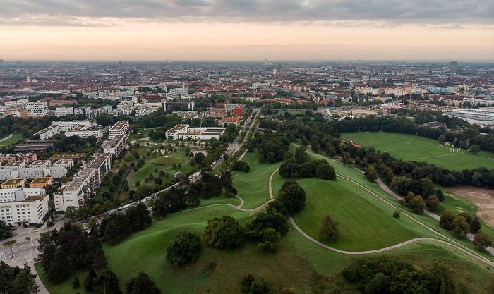 Olympiapark: Olympiaberg, Schwabing München