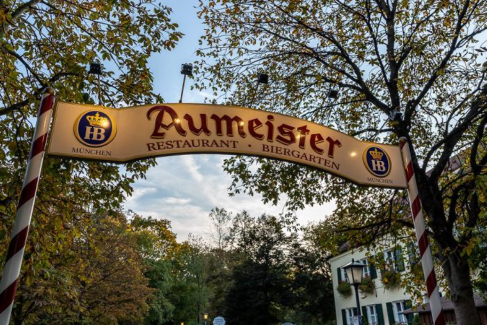 Englischer Garten: Biergarten Aumeister München