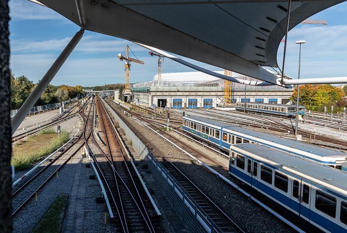U-Bahnhof Fröttmaning, U-Bahnlinie U6, Betriebshof Nord München