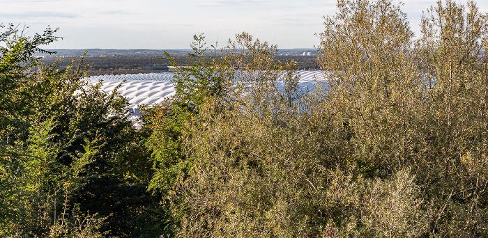 Blick vom Fröttmaninger Berg: Allianz Arena München