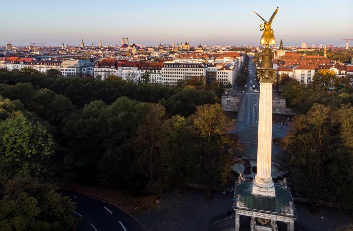 München Friedensengel Luftbild aerial photo
