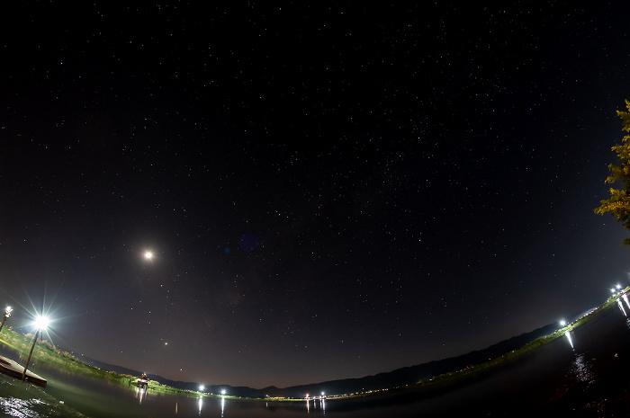 Nyaung Shwe Inle Resort: Inle-See - Sternenhimmel und Mond