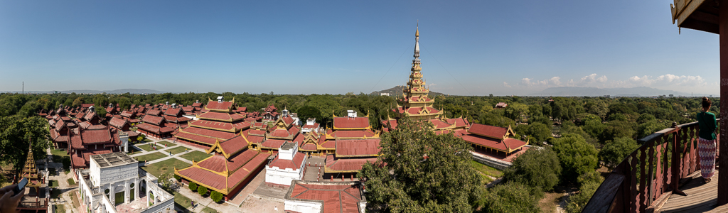 Mandalay Palace: Blick von Nan-Myin-Wachturm