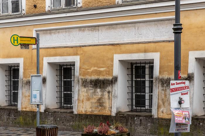 Salzburger Vorstadt: Geburtshaus Adolf Hitlers  Braunau am Inn