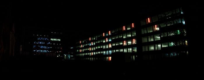 Werksviertel (im Spiegelbild): Riesenrad Umadum (Hi-Sky) München