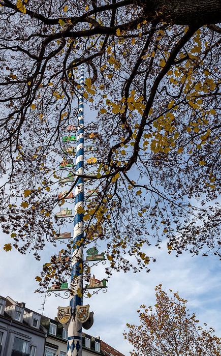 Berg am Laim: Baumkirchner Straße - Maibaum München
