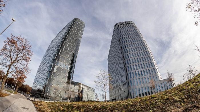 Bogenhausen: Bavaria Towers - Blue Tower, White Tower (Hyperion Hotel) München