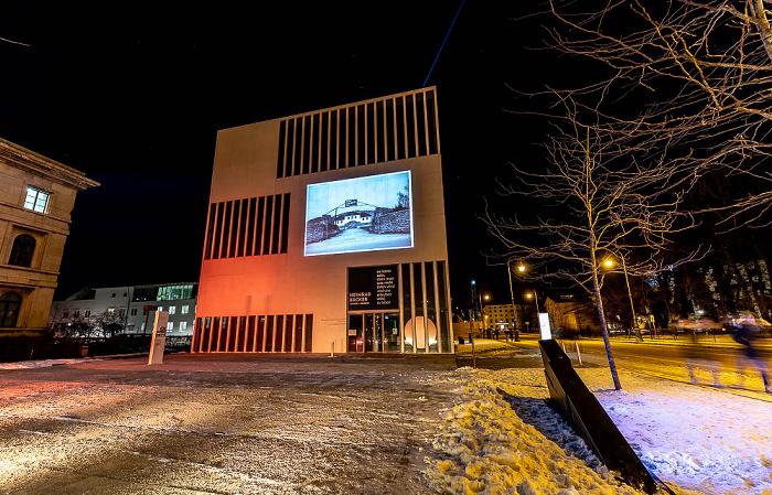 Lichtaktion Kunstareal: NS-Dokumentationszentrum München