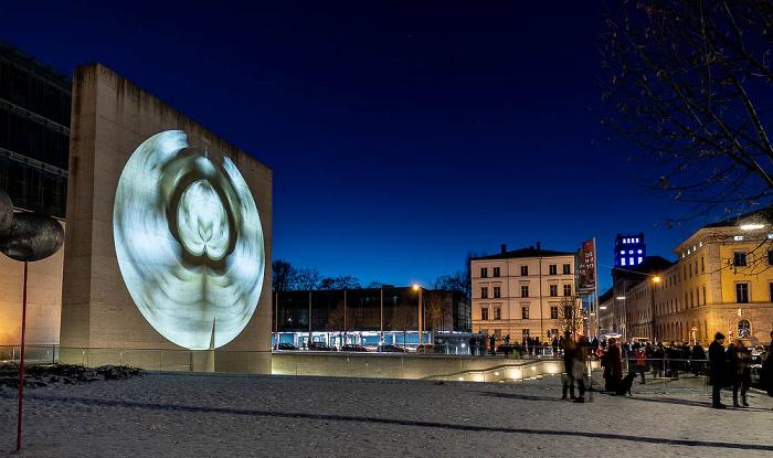 Lichtaktion Kunstareal: Installation Inside Out - Hochschule für Fernsehen und Film / Staatliches Museum Ägyptischer Kunst München