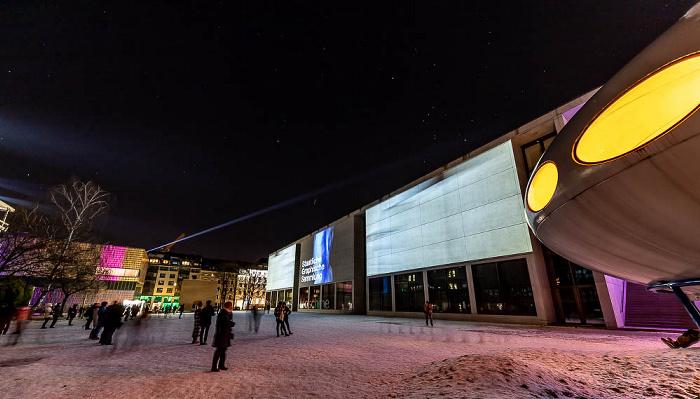 Lichtaktion Kunstareal: Installation Inside Out - Pinakothek der Moderne München