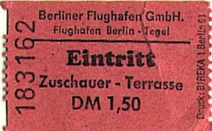 Flughafen Tegel: Zuschauer-Terasse Berlin 1977