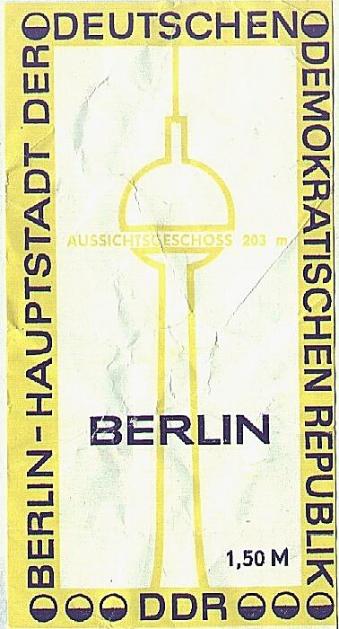 Fernsehturm Berlin 1985