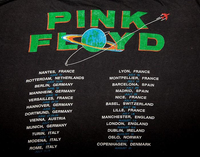 Maimarktgelände: Pink Floyd Mannheim Tour-T-Shirt