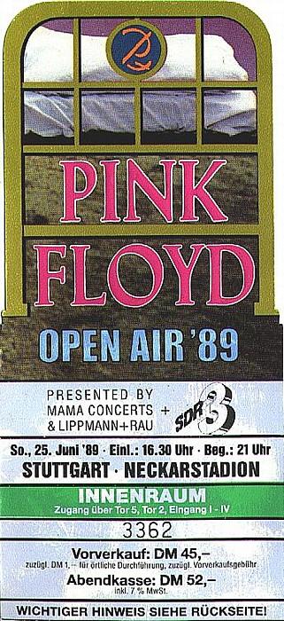 Stuttgart Neckarstadion: Pink Floyd Mercedes-Benz Arena