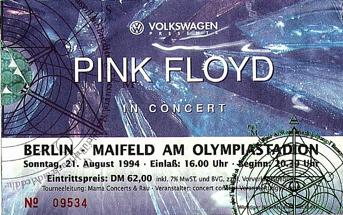 Maifeld am Olympiastadion: Pink Floyd Berlin 1994