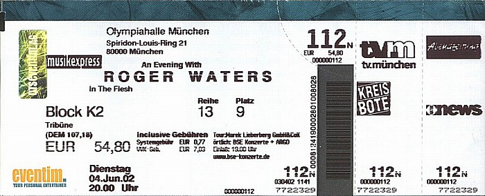 München Olympiahalle: Roger Waters