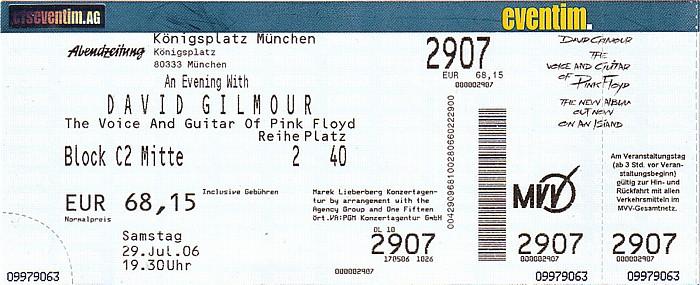 München Königsplatz: David Gilmour