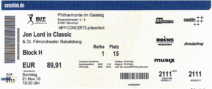 München Philharmonie im Gasteig: Jon Lord in Classic