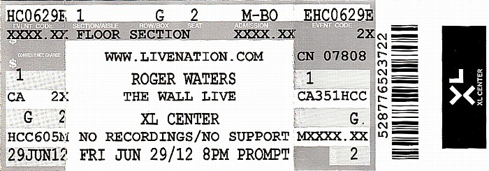 Hartford XL Center: Roger Waters - The Wall Live