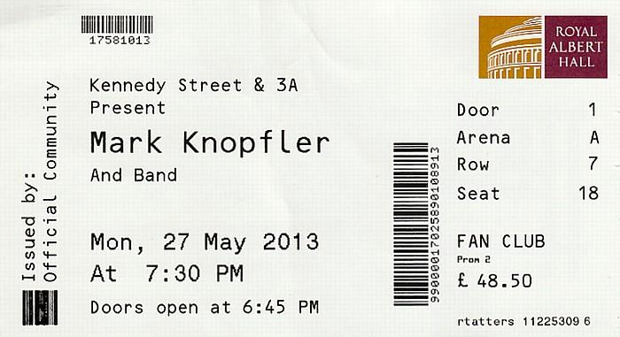 London Royal Albert Hall: Mark Knopfler