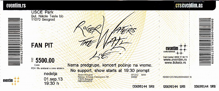 Kombank Arena (Belgrade Arena): Roger Waters - The Wall Live