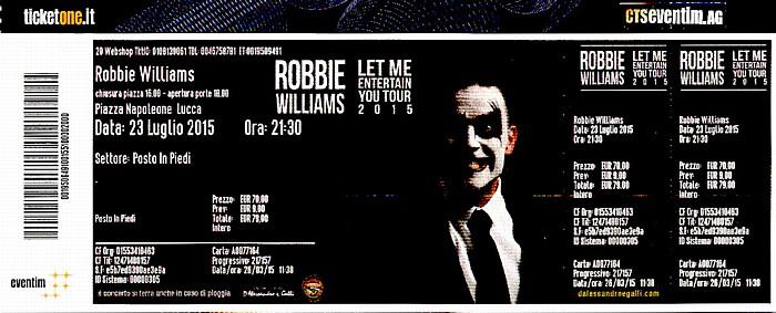 Piazza Napoleone (Lucca Summer Festival): Robbie Williams