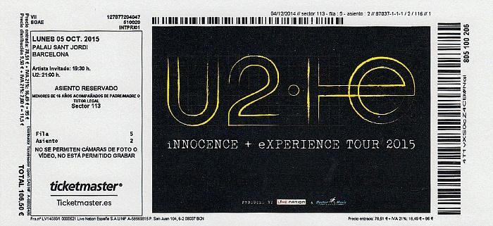 Barcelona Palau Sant Jordi: U2
