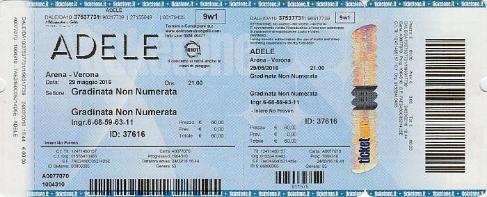 Arena di Verona: Adele