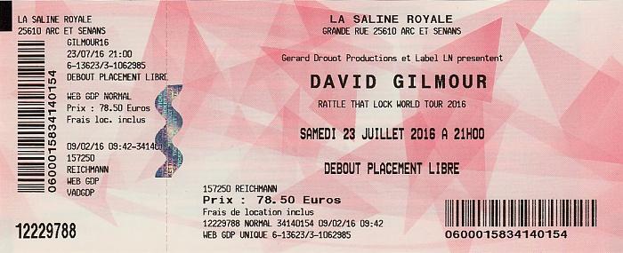 Saline Royale d'Arc-et-Senans (Königliche Saline): David Gilmour